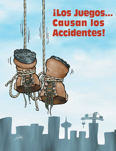 Get Serious About Fall Arrest Equipment! - Spanish Safety Poster