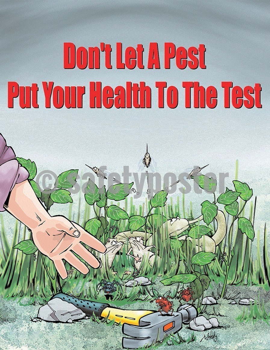 Safety Poster - Don't Let A Pest Put Your Health To The Test - safetyposter.com