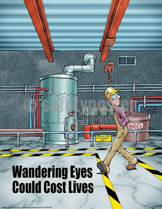 Wandering Eyes Could Cost Lives - Safety Poster
