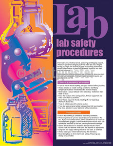 Lab Safety Procedures - Poster Cartoon Posters