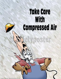 Safety Poster - Take Care With Compressed Air - safetyposter.com