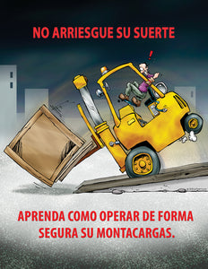 Know How To Safely Operate Your Forklift Truck - Spanish Safety Poster