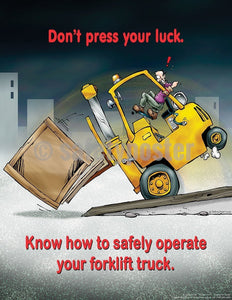 Safety Poster - Know How To Safely Operate Your Forklift Truck - safetyposter.com