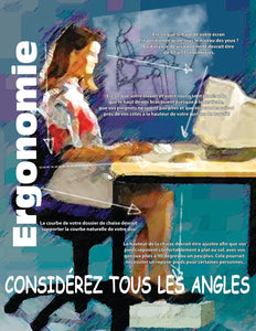 Ergonomics Consider All The Angles - French Safety Poster