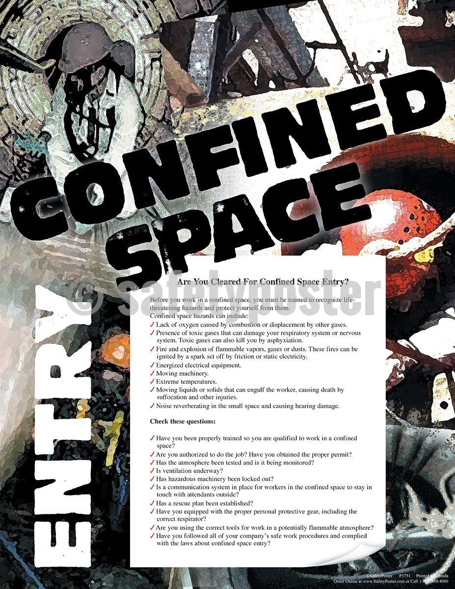 Safety Poster - Are You Cleared For Confined Space Entry? - safetyposter.com