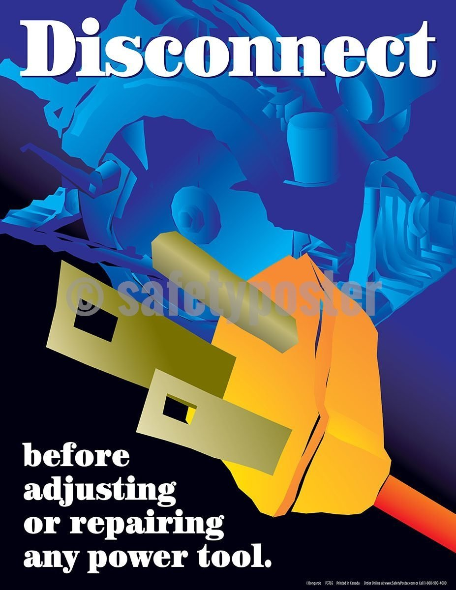 Safety Poster - Disconnect Electrical - safetyposter.com