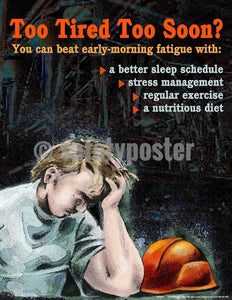 Safety Poster - You Can Beat Early Morning Fatigue - safetyposter.com