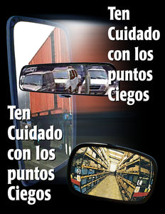 How Many Blind Spots Can You See? - Spanish Safety Poster