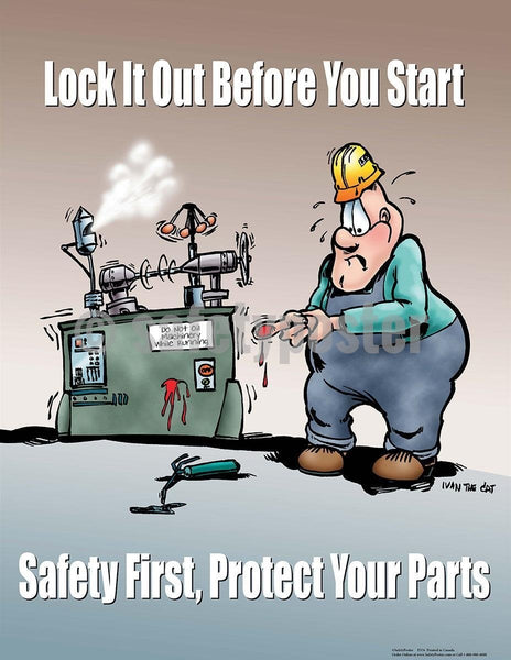 Safety Poster - Lock It Out Before You Start - safetyposter.com