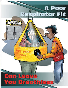 Safety Poster - A Poor Respirator Fit - safetyposter.com