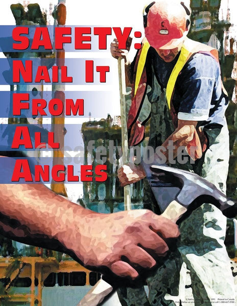 Safety Poster - Safety Nail It From All Angles - safetyposter.com