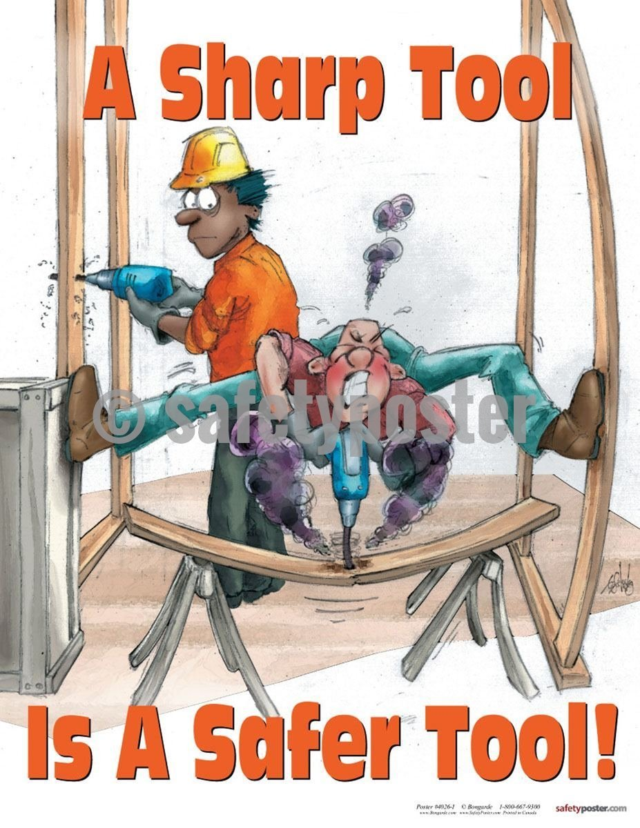 Safety Poster - A Sharp Tool Is A Safer Tool! - safetyposter.com