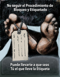 Skipping A Lockout Procedure - Spanish Safety Poster