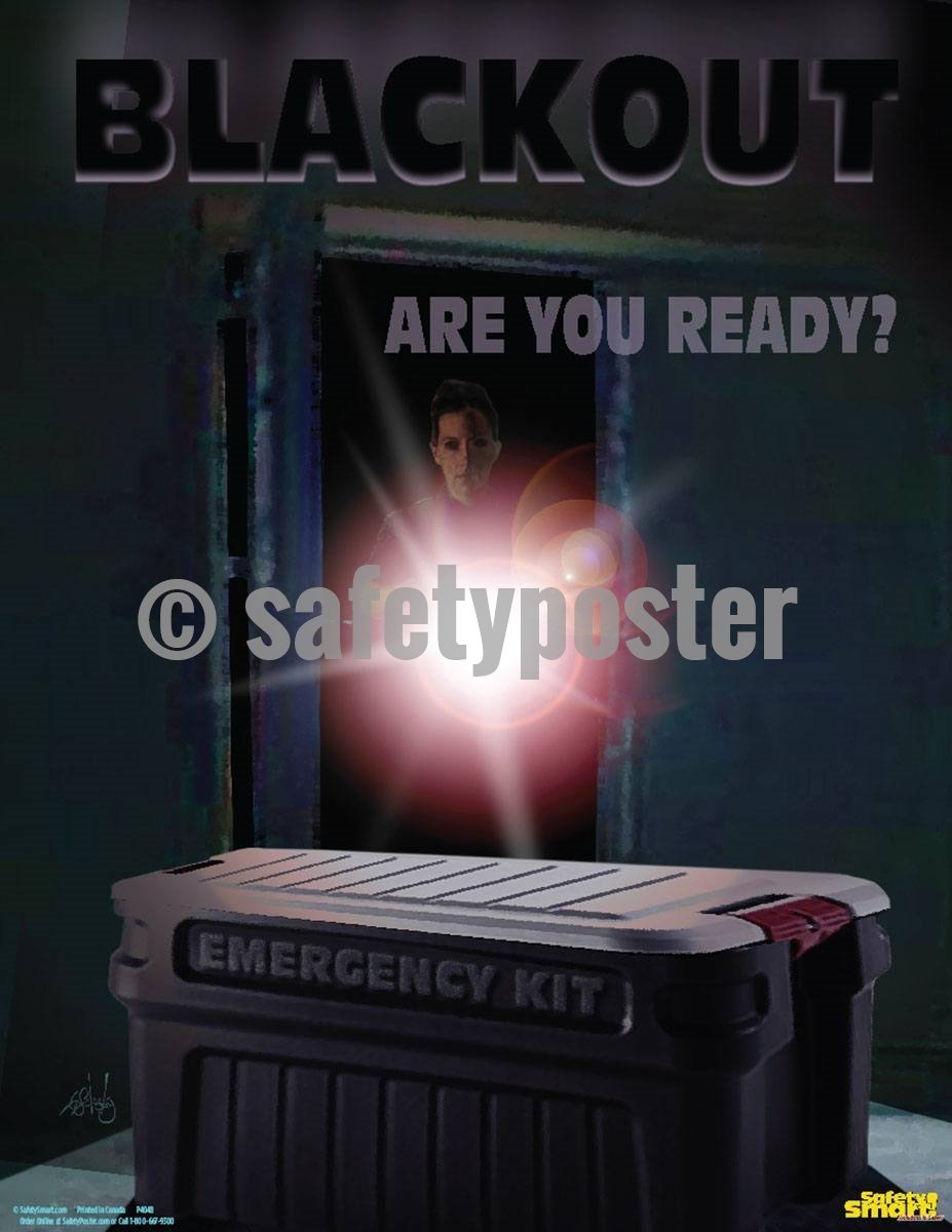Safety Poster - Blackout Are You Ready? - safetyposter.com