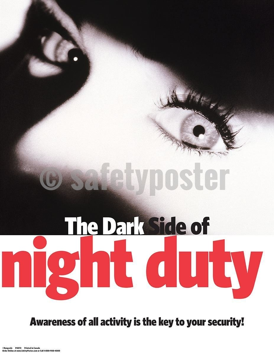 Safety Poster - Dark Side Of Night Duty Posters (Health) - safetyposter.com