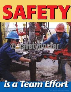 Safety Poster - Safety Is A Team Effort - safetyposter.com
