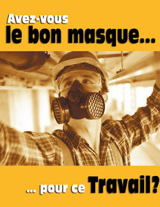 Right Mask For The Task? - French Safety Poster
