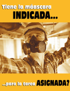 Right Mask For The Task? - Spanish Safety Poster