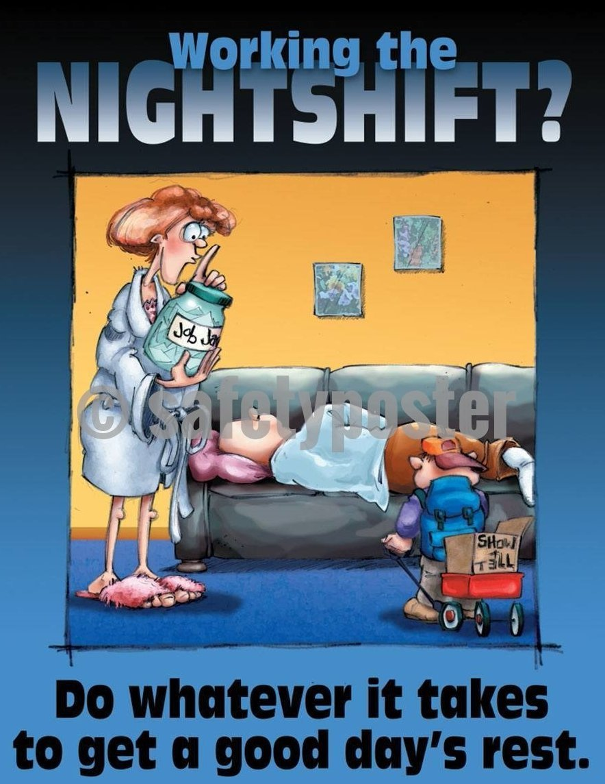 Safety Poster - Working The Nightshift? - safetyposter.com