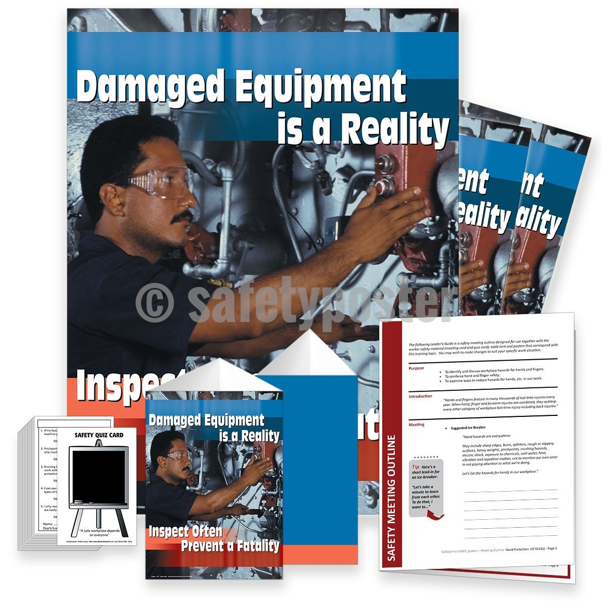 Safety Meeting Kit - Damaged Equipment Is A Reality Kits