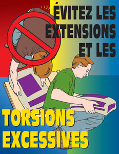 Get Back To Basics Lift Properly - French Safety Poster