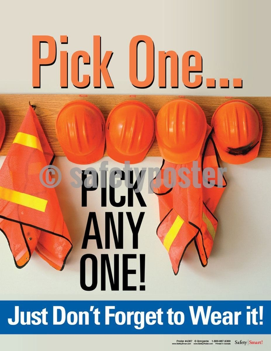 Safety Poster - Pick One Pick Any One! - safetyposter.com
