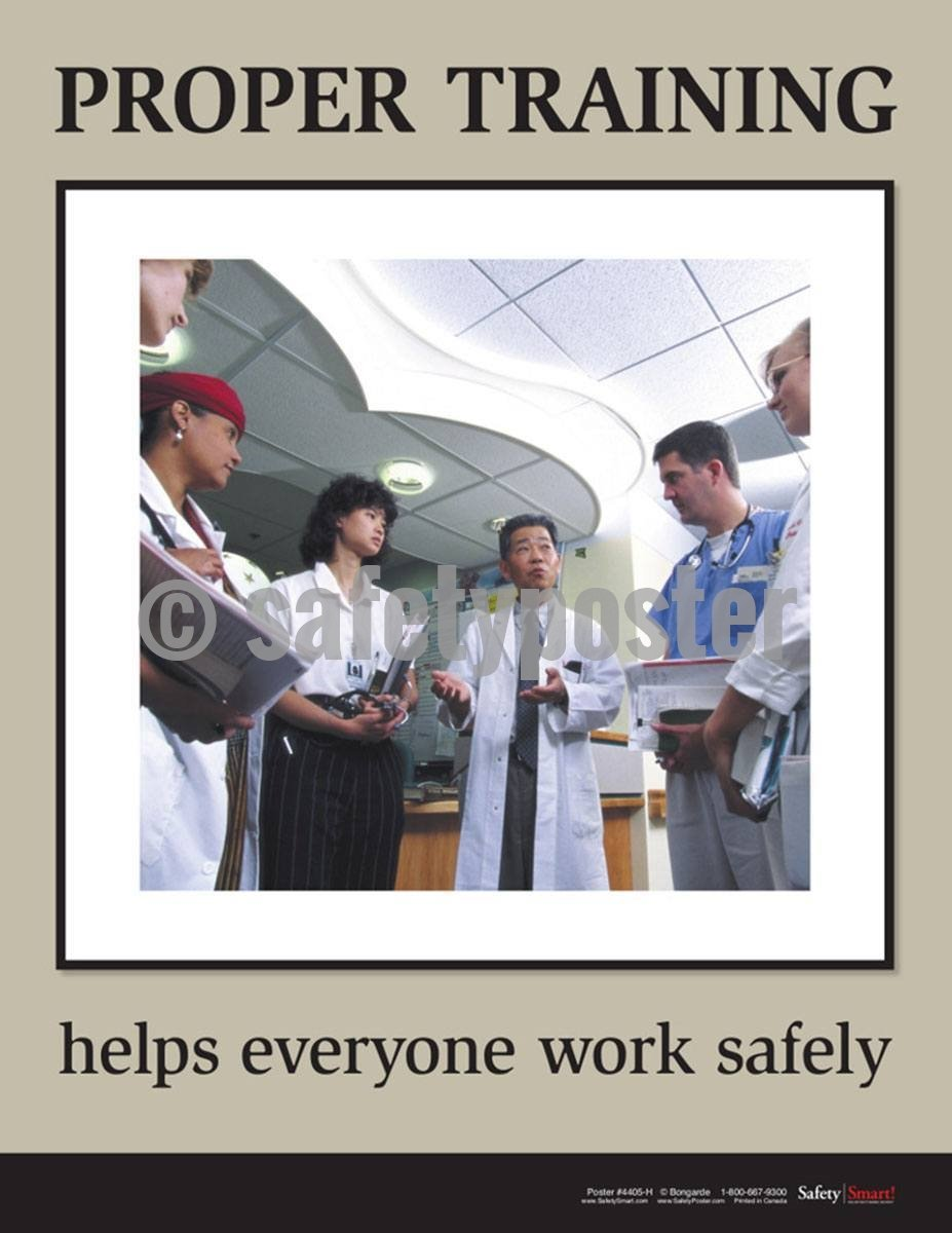 Safety Poster - Proper Training Help Everyone Work Safely - safetyposter.com