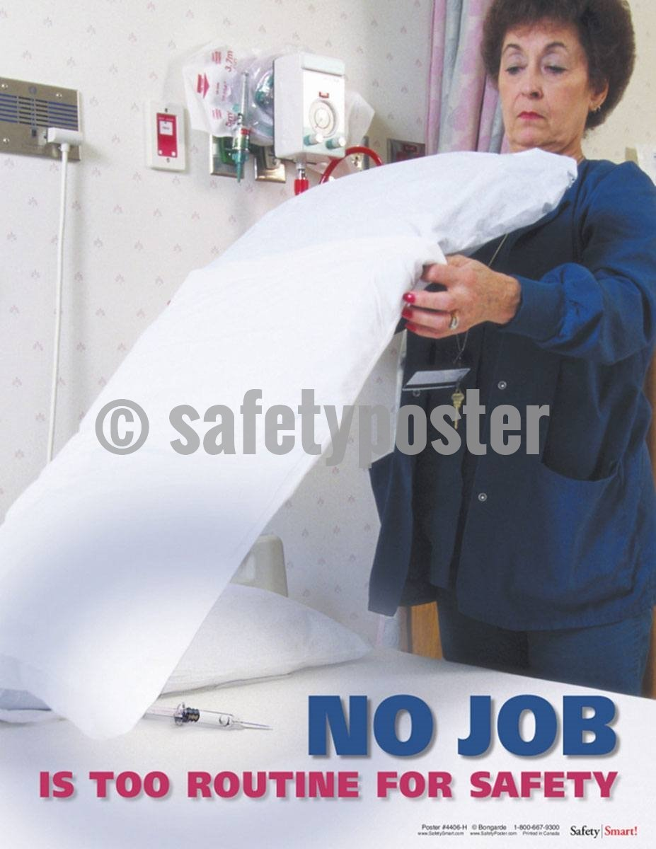 Safety Poster - No Job Is Too Routine For Safety - safetyposter.com