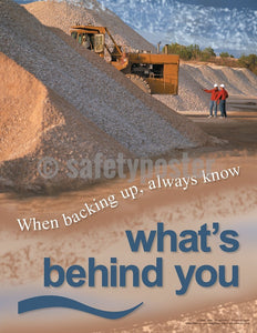 Always Know Whats Behind You - Safety Poster Construction