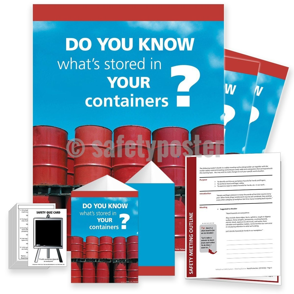 Safety Meeting Kit - Do You Know Whats Stored In Your Containers Kits