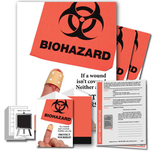 Safety Meeting Kit - Biohazard If A Wound Isn't Covered Neither Are You