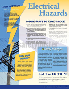 Safety Poster - Electrical Hazards Infoposters - safetyposter.com