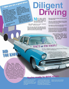 Diligent Driving Information - Safety Poster Transportation