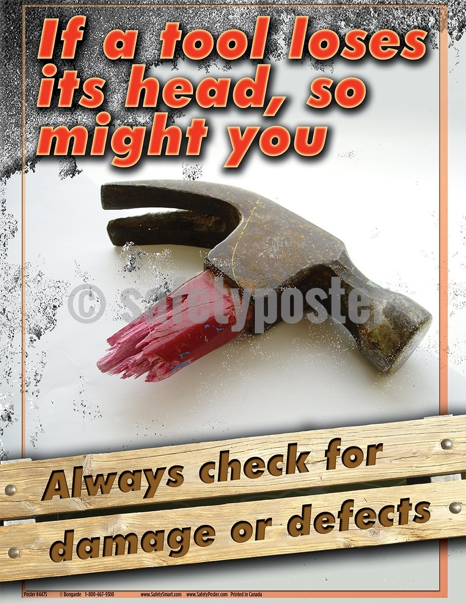 Always Check For Damage Or Defects - Safety Poster Tool