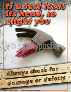 Always Check For Damage Or Defects - Safety Poster