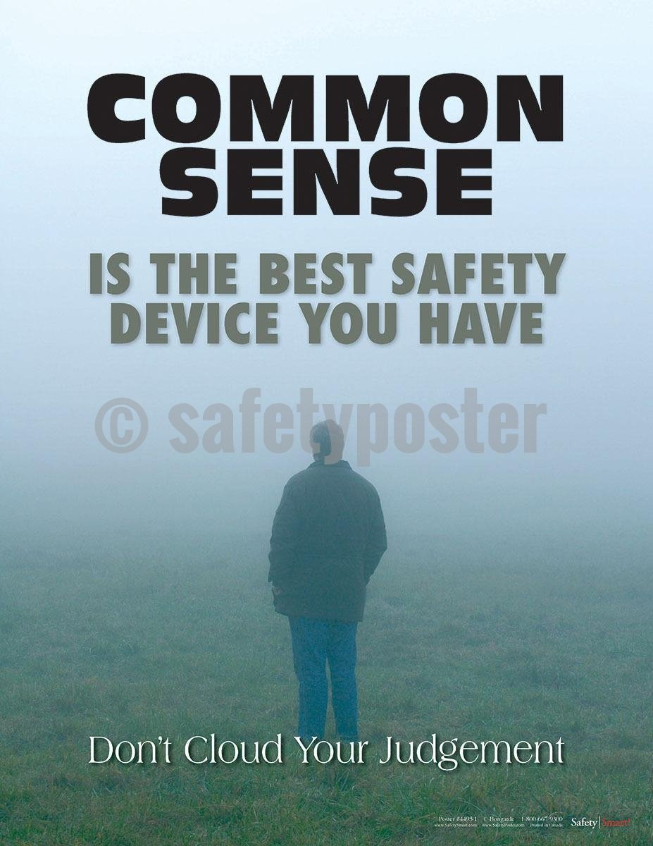 Safety Poster - Don't Cloud Your Judgement - safetyposter.com