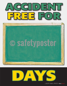 Safety Posters - Accident Free Write In - safetyposter.com