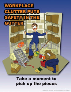 Safety Poster - Workplace Clutter - safetyposter.com