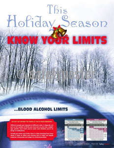 Safety Poster - This Holiday Season Know Your Limits - safetyposter.com
