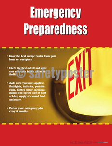 Safety Poster - Emergency Preparedness - safetyposter.com