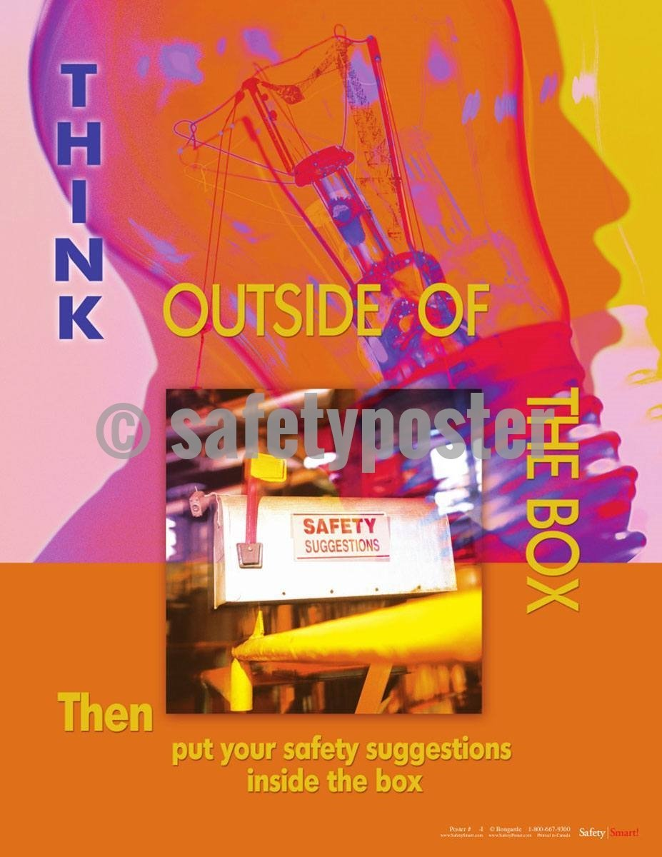 Safety Poster - Think Outside Of The Box - safetyposter.com