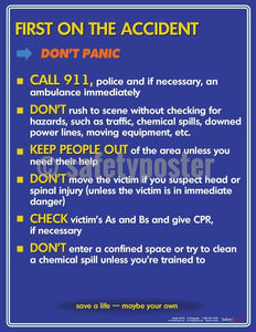 Safety Poster - First On The Scene Of An Accident - safetyposter.com