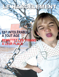 Bullying At Any Age Is Unacceptable - French Safety Poster