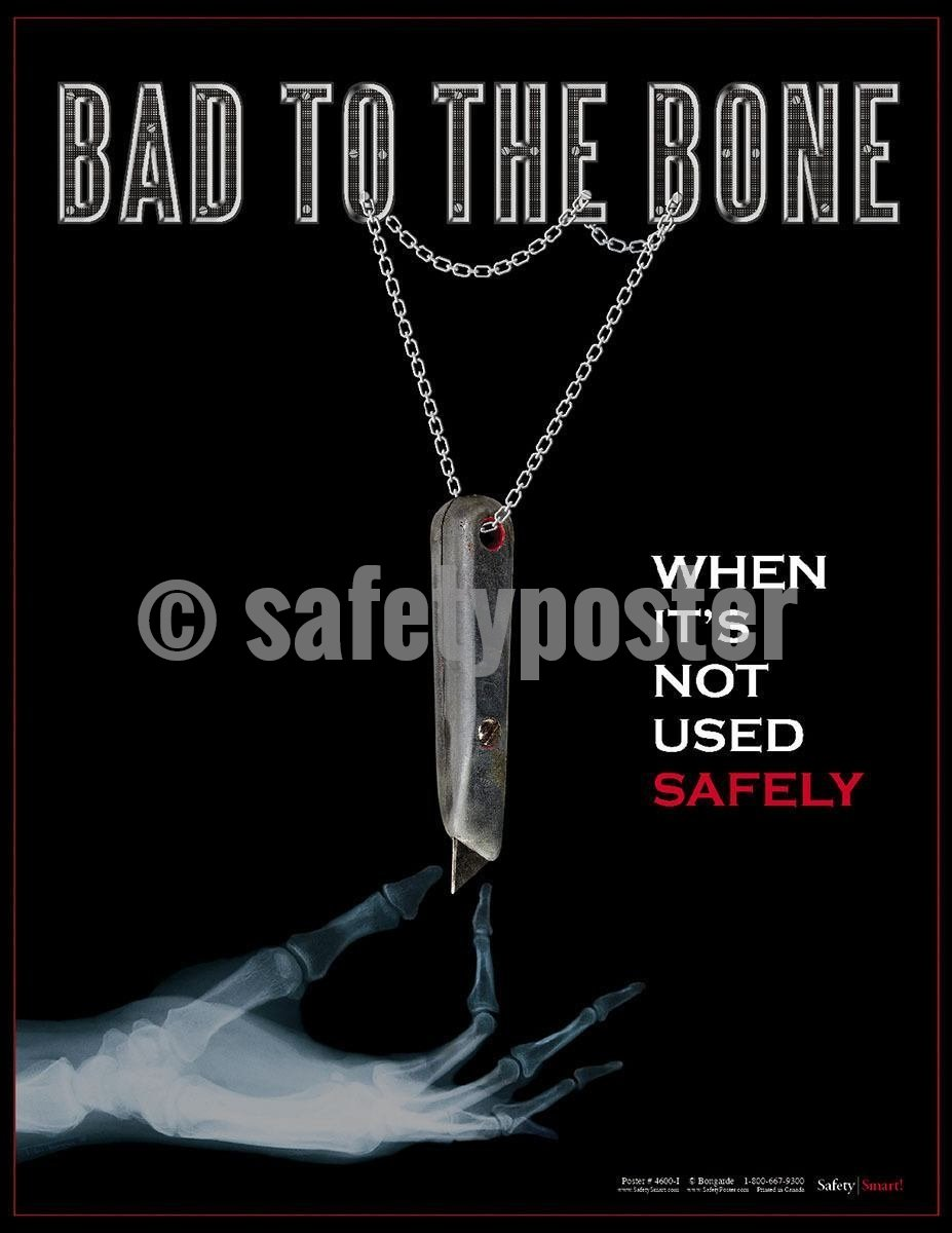 Safety Poster - Bad To The Bone - safetyposter.com