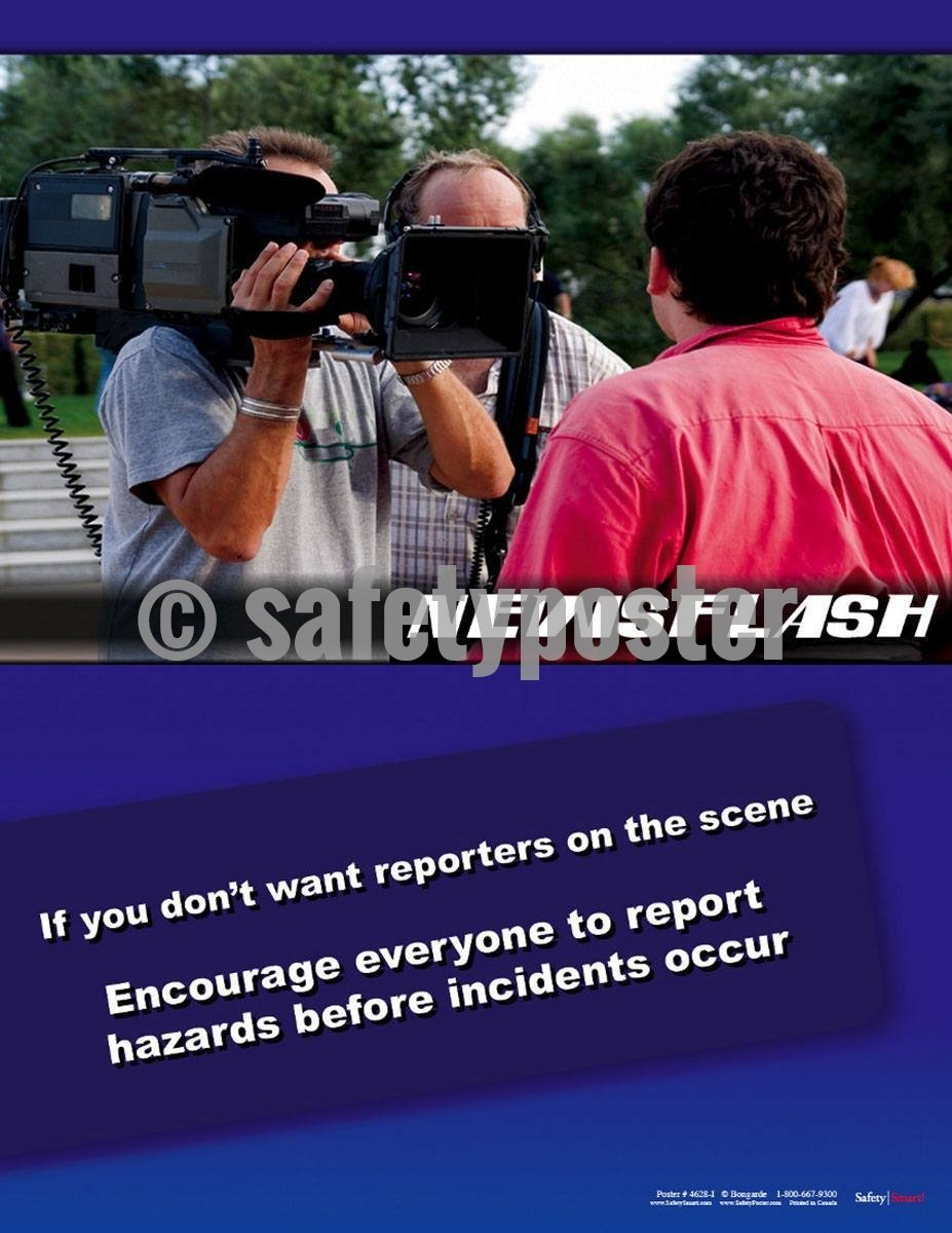 Safety Poster - Newsflash Report Incidents - safetyposter.com