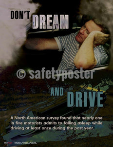 Safety Poster - Don't Dream And Drive - safetyposter.com