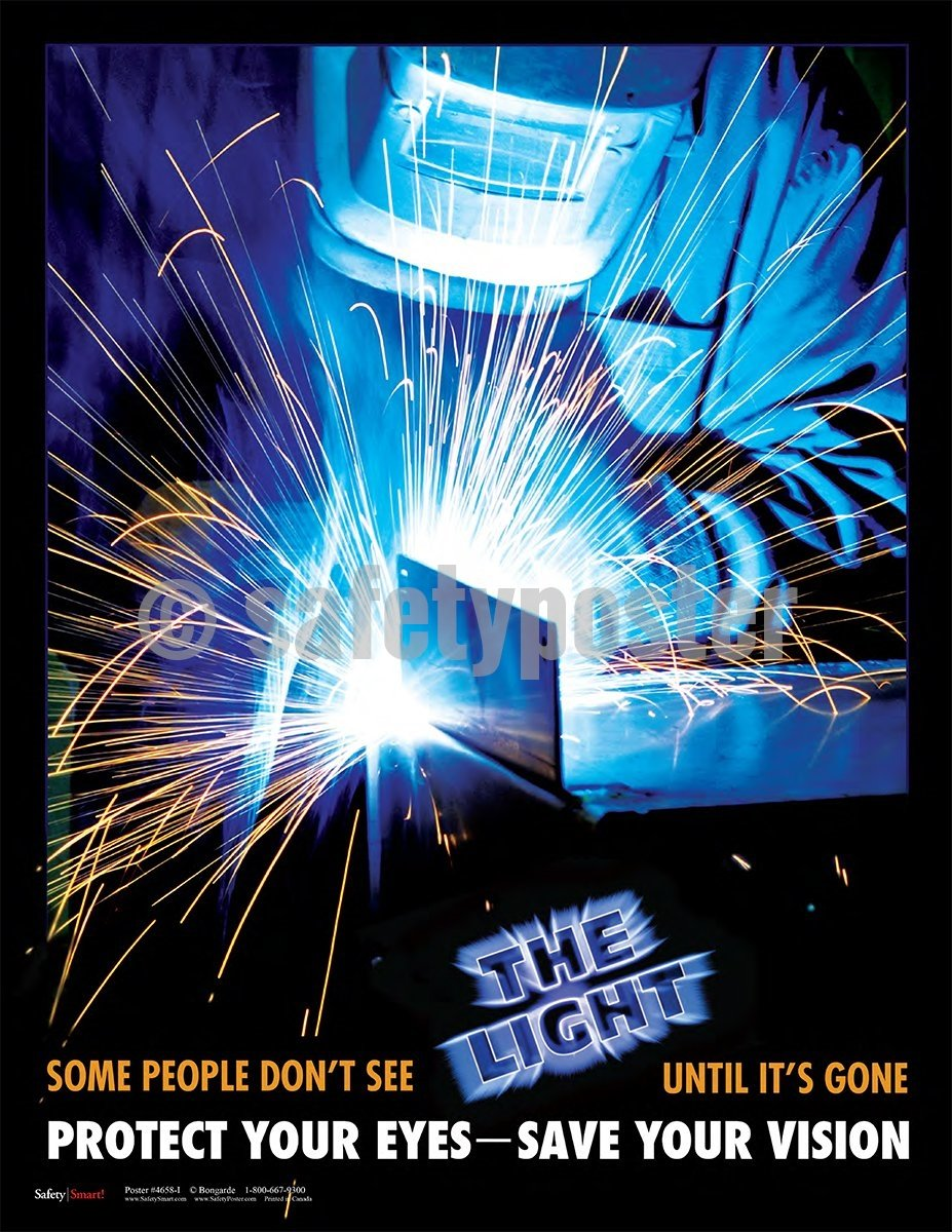 Protect Your Eyes Save Vision - Safety Poster Welding
