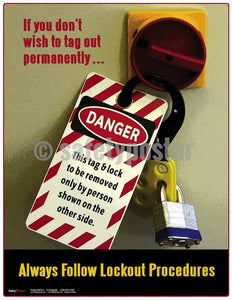 Always Follow Lockout Procedures - Safety Poster Machine Hazards