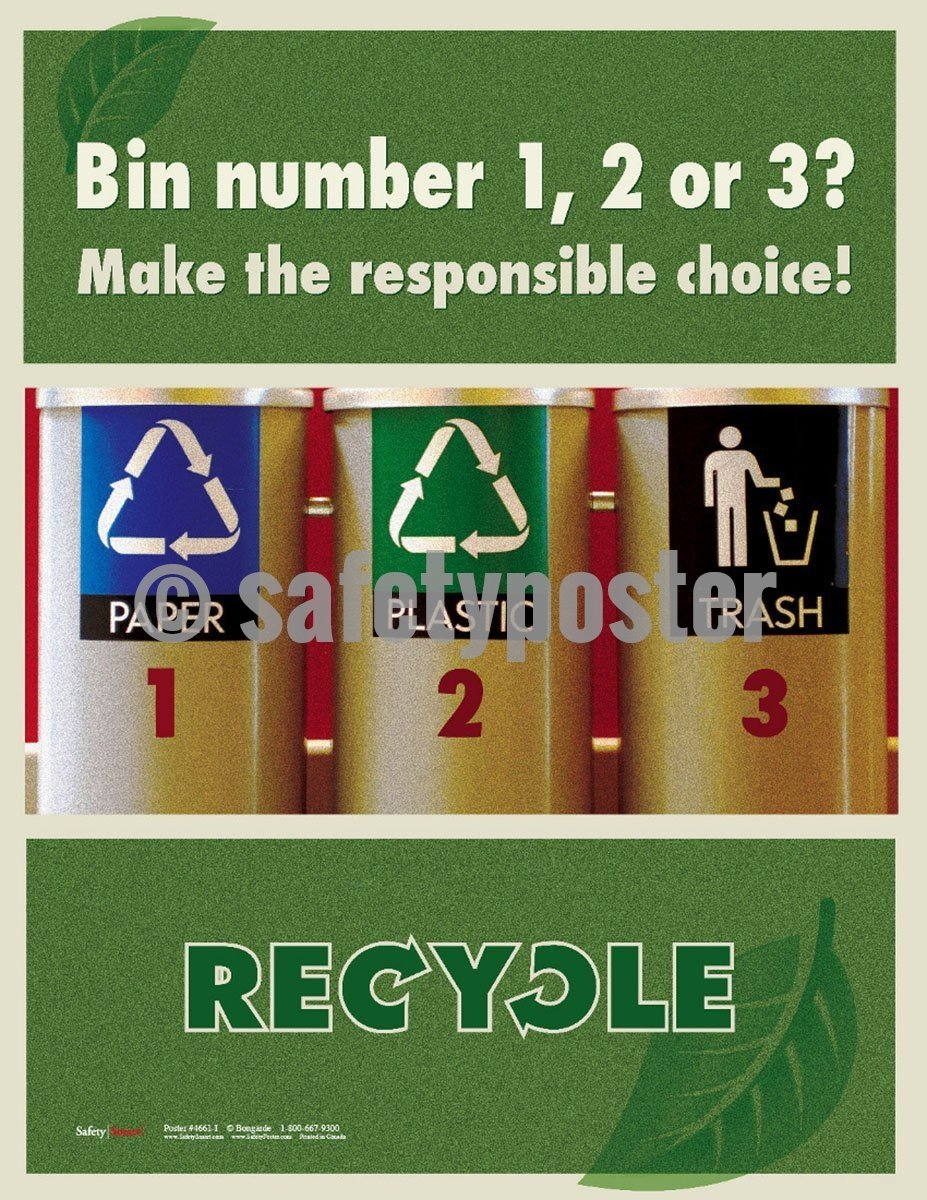 Safety Poster - Make The Responsible Choice! Recycle - safetyposter.com