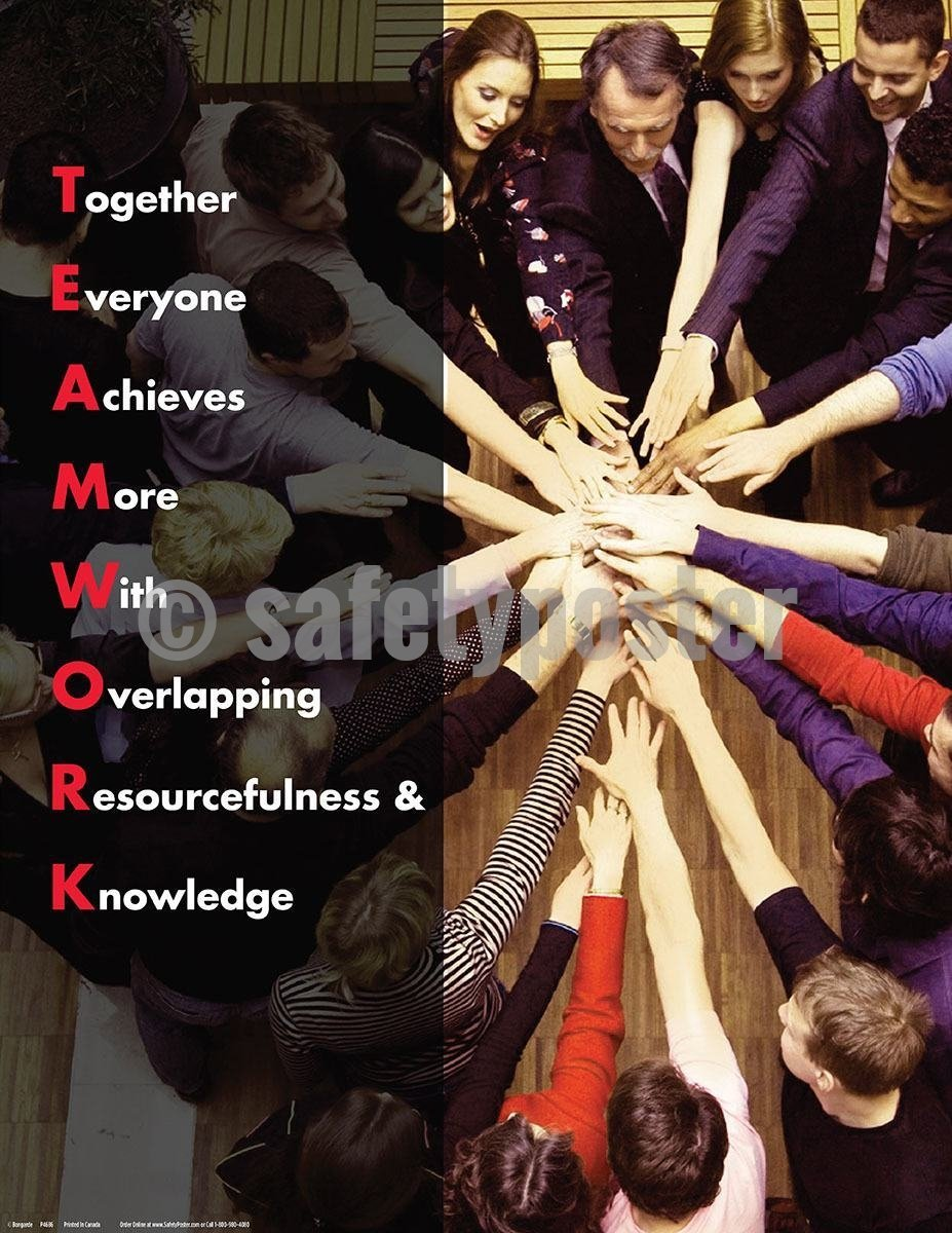 Safety Poster - Teamwork Acronym - safetyposter.com